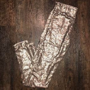 NWT Gold sequin tights
